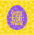 easter egg hunt typographical background vector image vector image