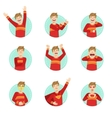 Emotion Body Language Set With Guy vector image vector image
