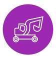 Excavator truck line icon vector image
