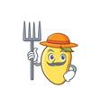 farmer mango character cartoon mascot vector image vector image