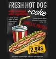 fast food chalkboard menu design vector image vector image