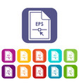 file eps icons set vector image vector image