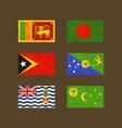 Flags of Sri Lanka Bangladesh East Timor Christmas vector image