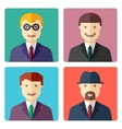 flat colorful businessman avatar icons vector image vector image