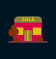 flat icon of shop sale vector image vector image