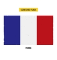French grunge flag with little scratches on vector image vector image