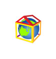 friendly small planet is in the house it is cozy vector image vector image