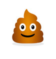 funny smiling poop emotional shit icon vector image
