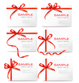 gift tags and cards vector image vector image