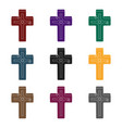 golden cross easter single icon in black style vector image vector image