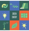 Green energy icons set Eco concept vector image