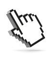 hand arrow cursor isolated on white vector image vector image