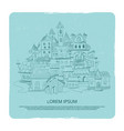 hand drawn city landscape vintage emblem vector image