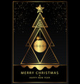 happy new year greeting card design with stylized vector image vector image