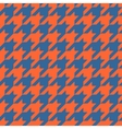 Houndstooth tile pattern or tweed wallpaper vector image vector image