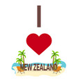 i love new zealand travel palm summer lounge vector image vector image
