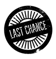 Last chance stamp vector image vector image