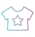 line baby t-shirt cloth design vector image vector image
