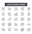 location line icons for web and mobile design vector image