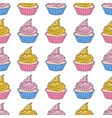 love cake valentines day seamless pattern vector image vector image