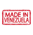 made in venezuela stamp text vector image vector image
