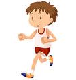 Man in sportwear running vector image vector image