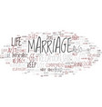marriage and commitment text background word vector image vector image