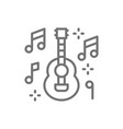 mexican guitar music mariachi line icon vector image