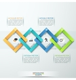 Modern business paper infographics options banner vector image