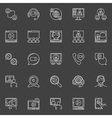 Online video conference icons vector image vector image