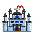 pixel old castle detailed isolated vector image vector image