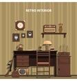 Retro Interior vector image vector image