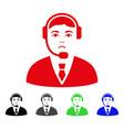 sad call center operator icon vector image vector image