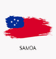 samoa watercolor national country flag icon vector image vector image