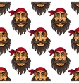 seamless pattern a bearded pirate or sailor vector image vector image