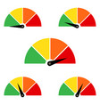 set measuring icons easy normal hard on white vector image vector image