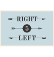 set vintage arrows and banners with inscription vector image