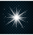 Shine star sparkle icon 1 vector image vector image