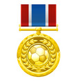 soccer football medal vector image