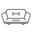 soft sofa icon outline style vector image vector image