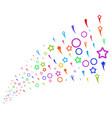 source stream of confetti stars vector image vector image