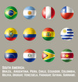 south america round flags vector image vector image