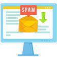spam email warning sign concept of virus piracy vector image