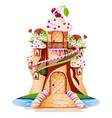 sweet castle vector image vector image