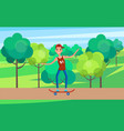 teenager skateboarding skater vector image vector image