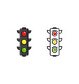 traffic light icon design vector image