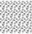 triangle doodle pattern on white background vector image vector image