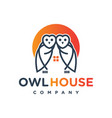 two owl logo designs vector image