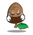 upside down acorn cartoon character style vector image vector image