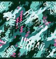 urban rider abstract camouflage wallpaper vector image vector image